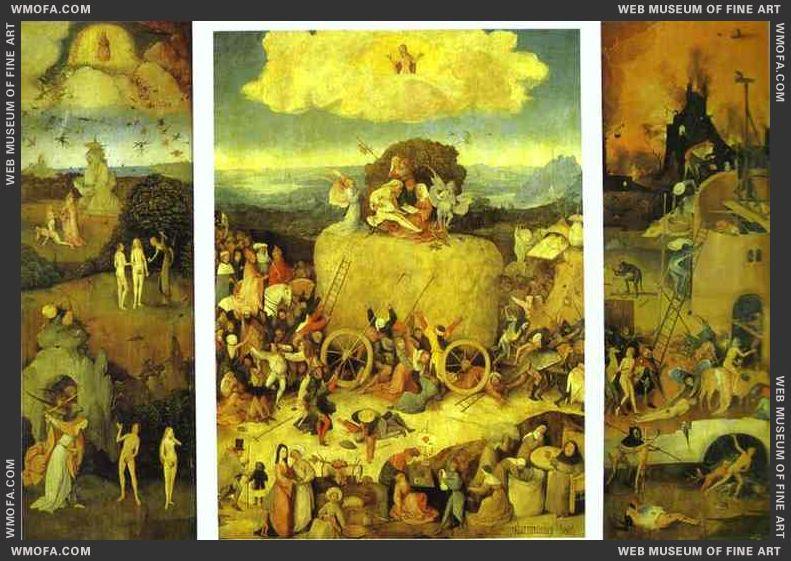 Haywain Triptych 1485-1490 by Bosch, Hieronymus