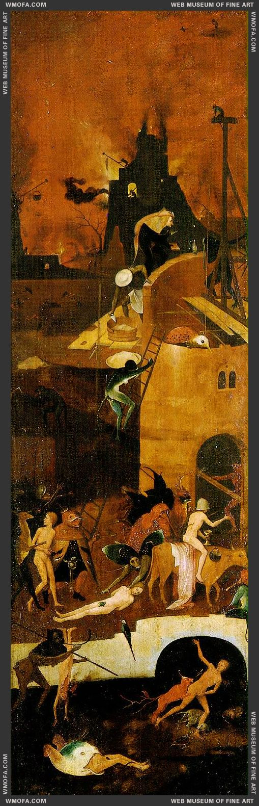 Haywain triptych - right wing - Hell 1485-1490 by Bosch, Hieronymus