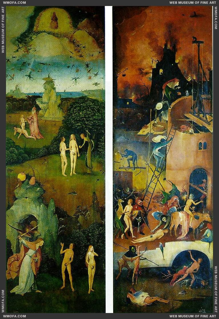 Paradise and Hell c1510 by Bosch, Hieronymus