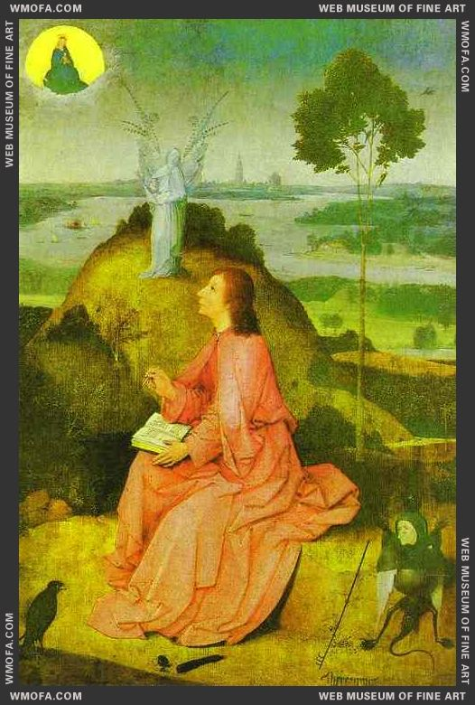 St John the Evangelist on Patmos 1485 by Bosch, Hieronymus