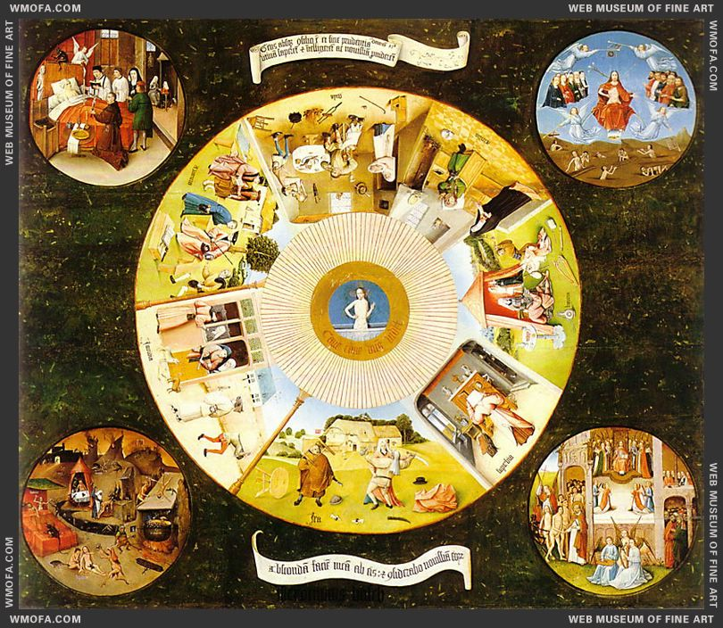 Tabletop of the Seven Deadly Sins and the Four Last Things 1485 by Bosch, Hieronymus