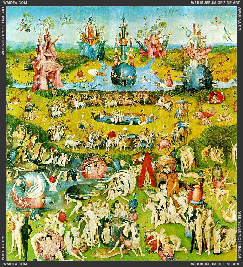 The Garden of Earthly Delights - central panel - Garden of Earthly Delights c1504 by Bosch, Hieronymus