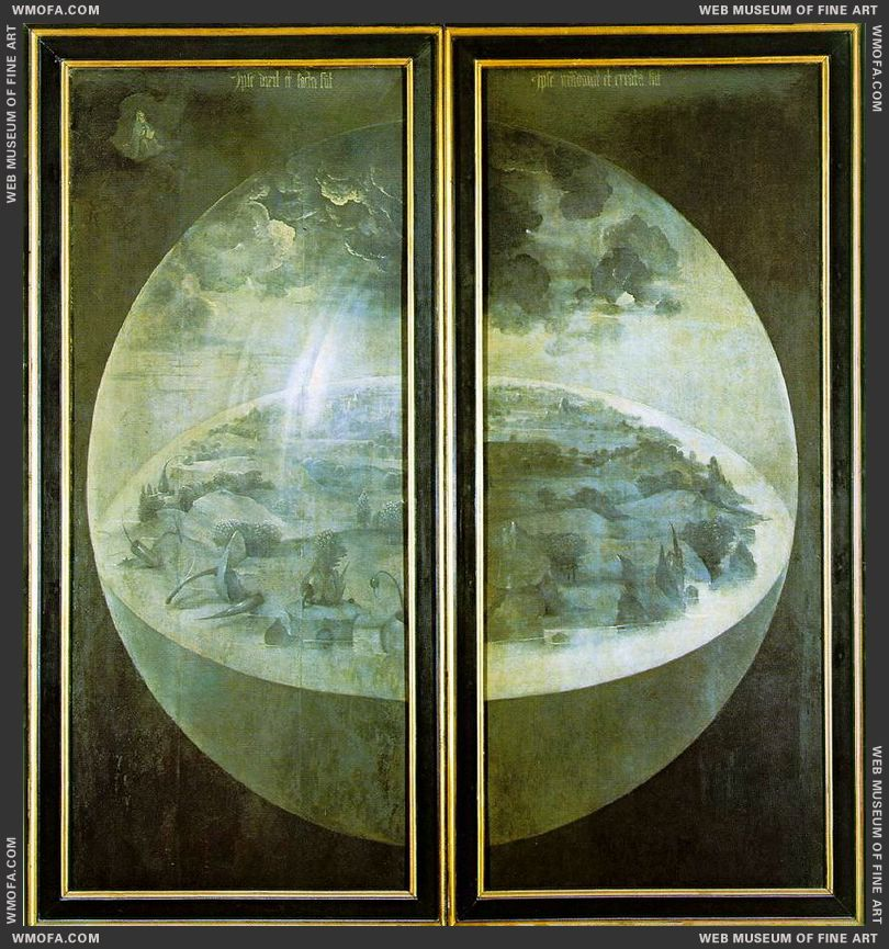 The Garden of Earthly Delights - outer wings - Creation of the World c1504 by Bosch, Hieronymus