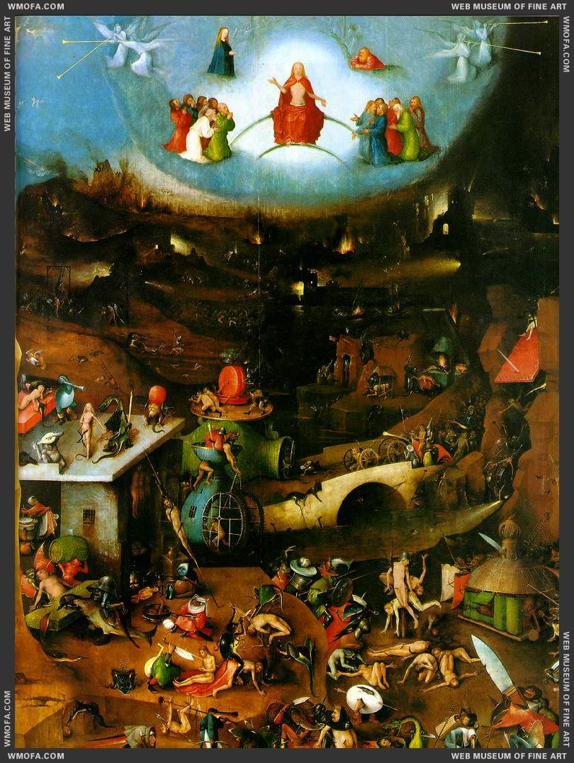 The Last Judgement triptych - central panel - Last Judgement c1500 by Bosch, Hieronymus