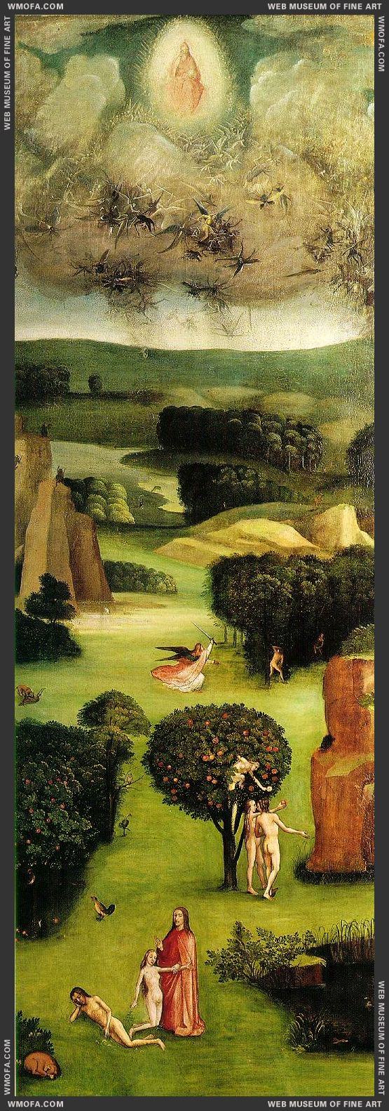 The Last Judgement triptych - left wing - Paradise c1500 by Bosch, Hieronymus