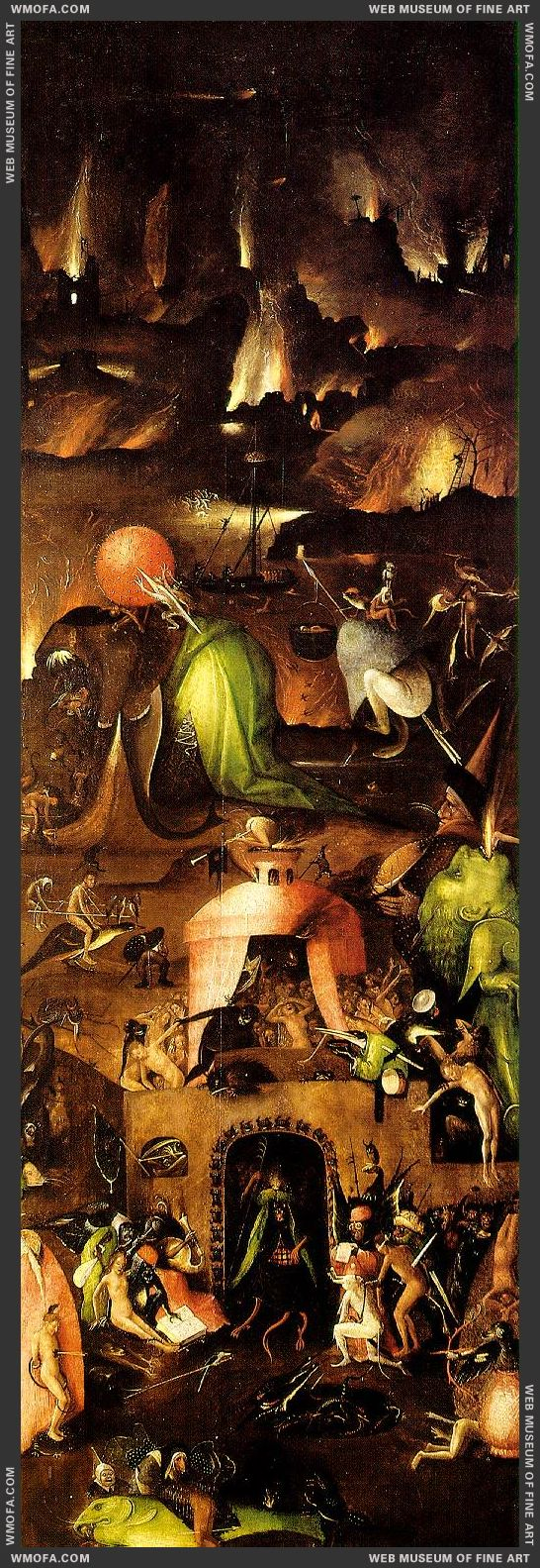 The Last Judgement triptych - right wing - Hell c1500 by Bosch, Hieronymus