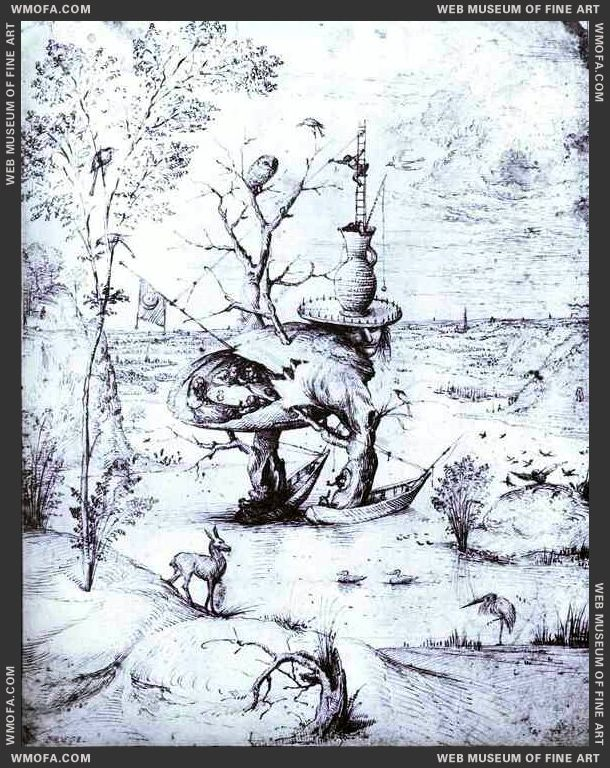The Tree Man 1470s by Bosch, Hieronymus