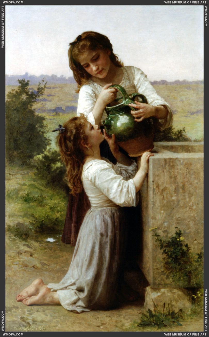 A la Fontaine - At the Fountain 1897 by Bouguereau, William