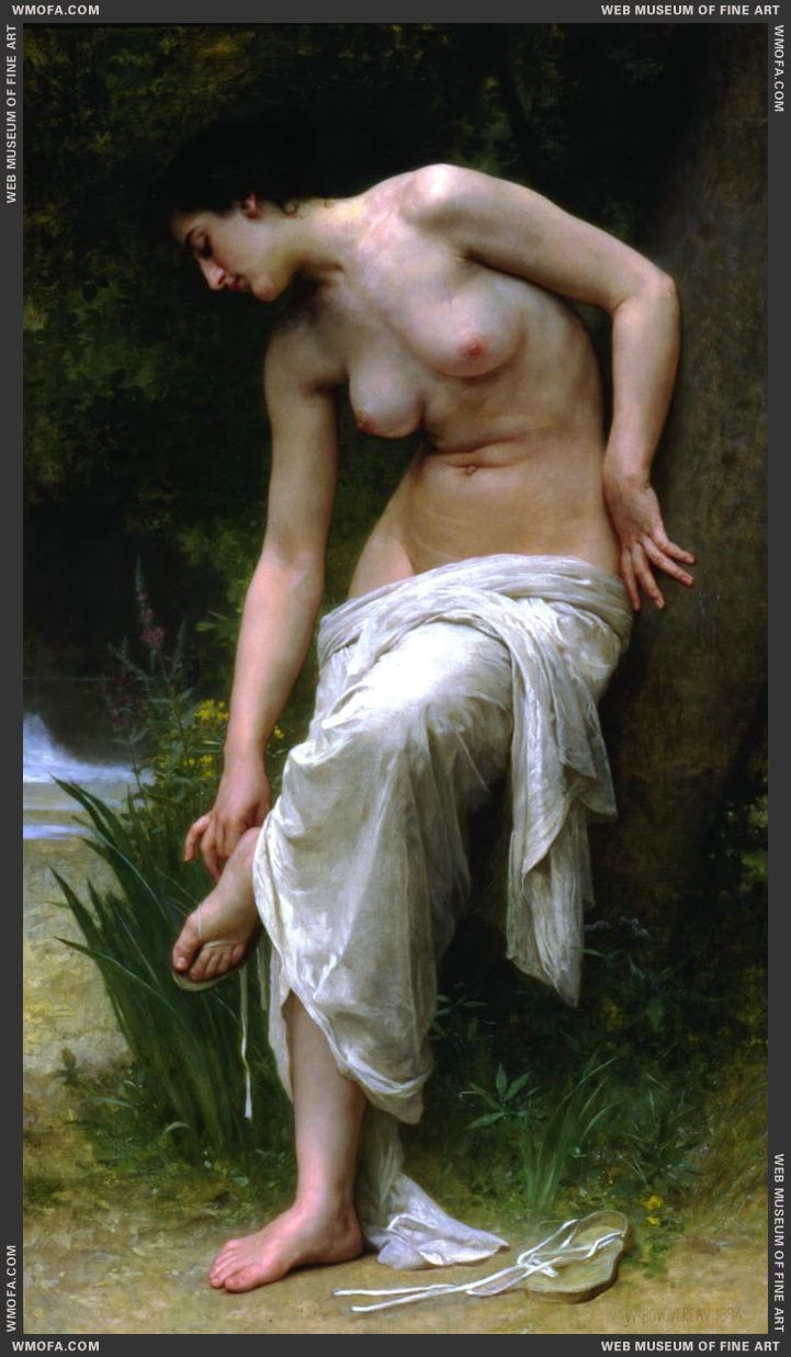 Apres le Bain - After the Bath 1894 by Bouguereau, William