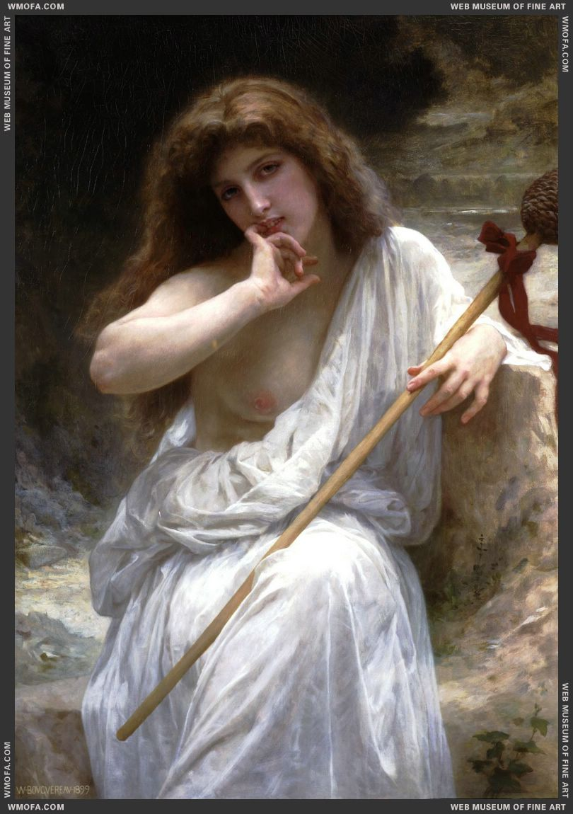Bacchante 1899 by Bouguereau, William