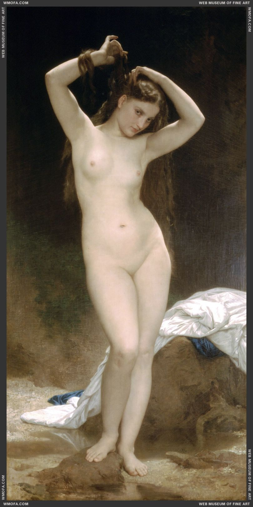 Baigneuse - Bather 1870 by Bouguereau, William