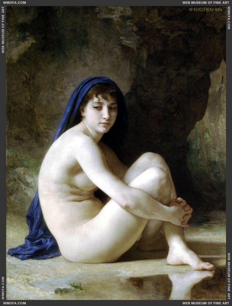 Baigneuse Accroupie - Seated Bather 1884 by Bouguereau, William