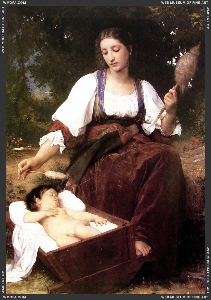 Berceuse - Lullaby 1875 by Bouguereau, William