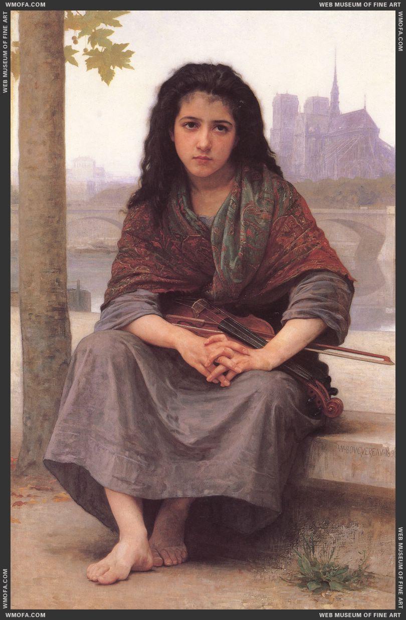 Bohemienne - The Bohemian 1890 by Bouguereau, William