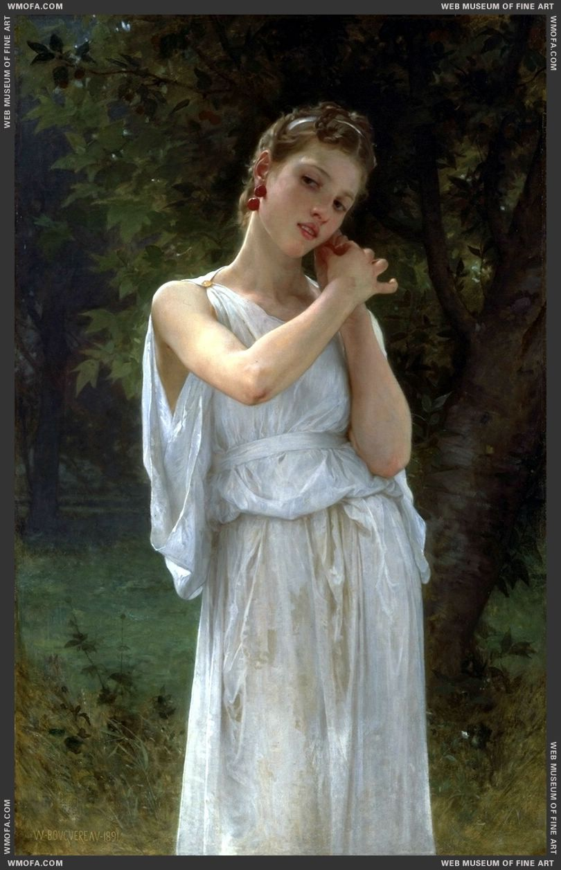 Boucles DOreilles - The Earrings 1891 by Bouguereau, William