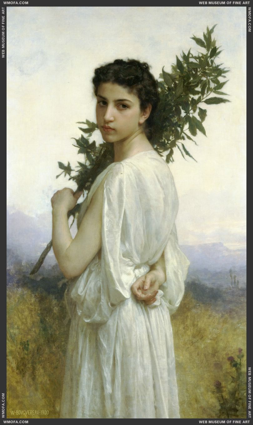 Branche de Laurier - Laurel Branch 1900 by Bouguereau, William