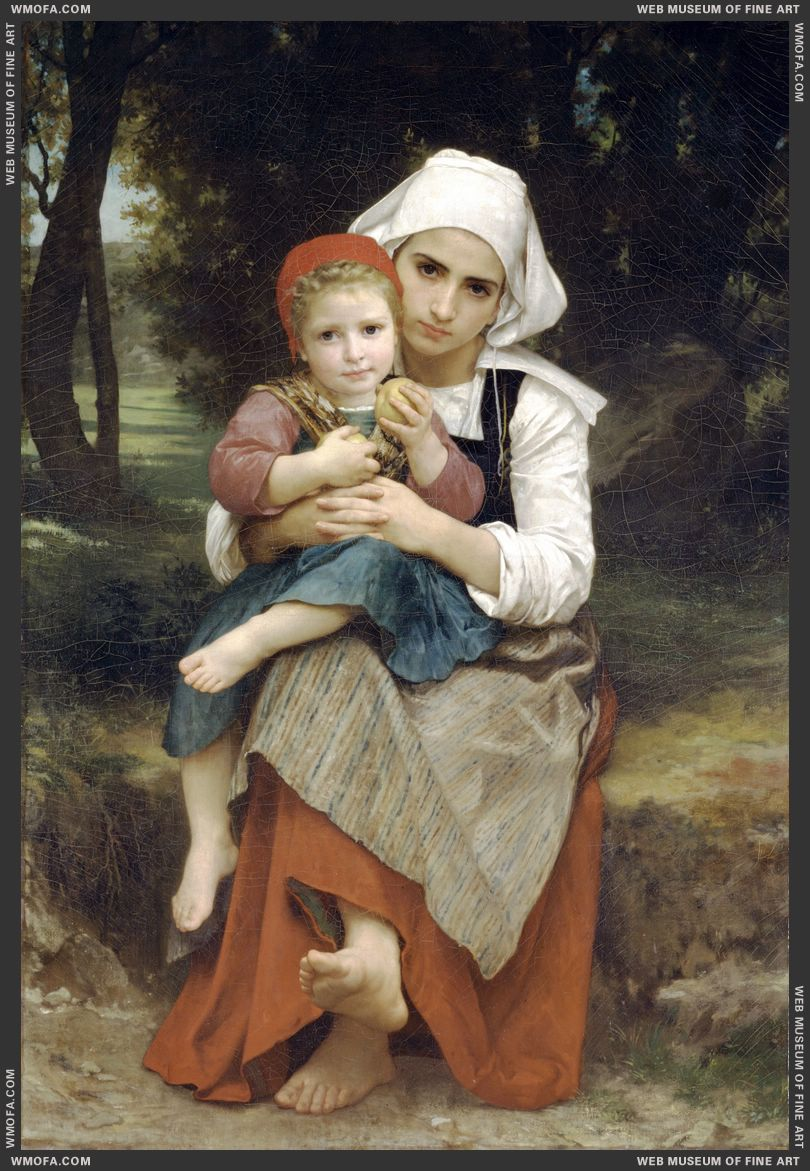Breton Brother and Sister 1871 by Bouguereau, William