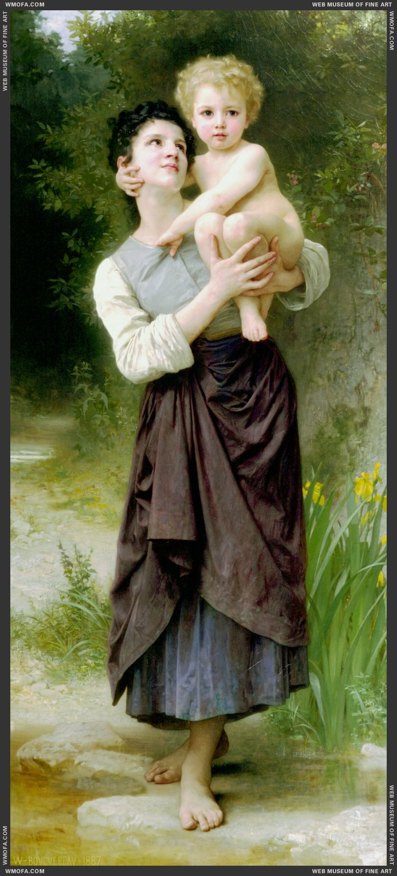 Brother and Sister 1887 by Bouguereau, William