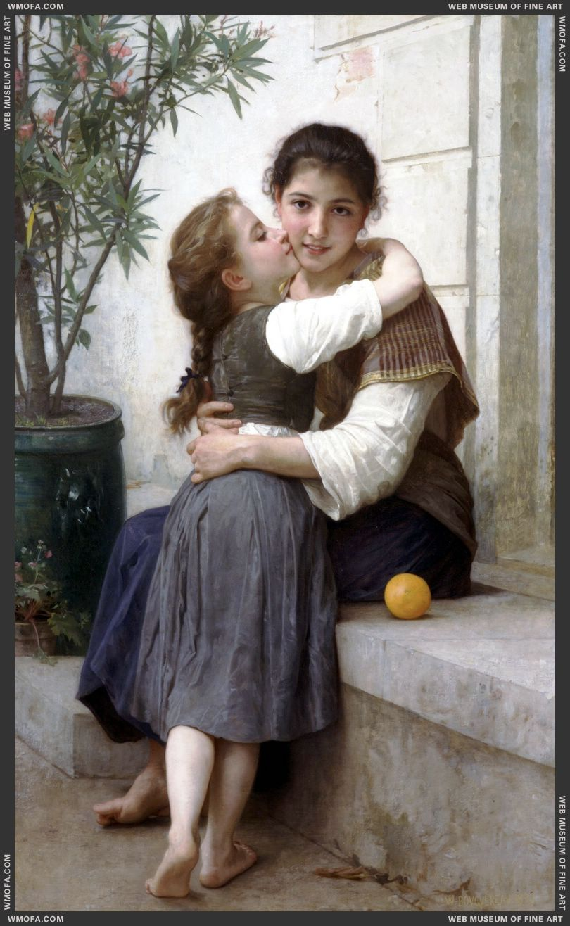Calinerie - A Little Coaxing 1890 by Bouguereau, William