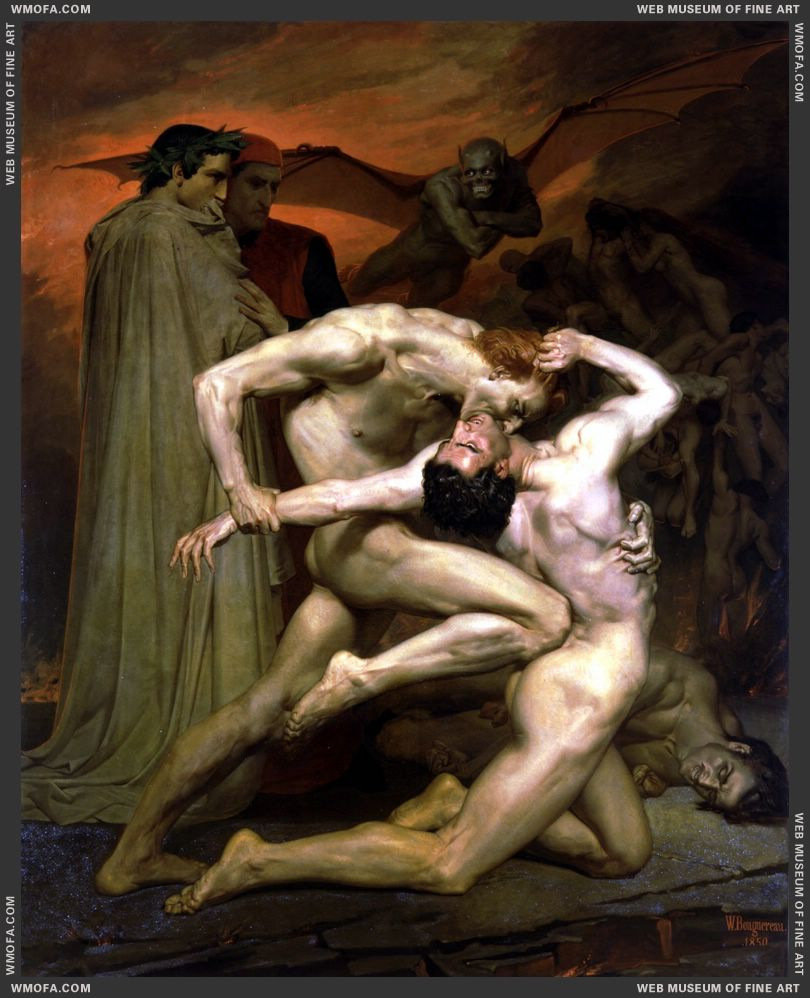 Dante et Virgile au Enfers - Dante and Virgil in Hell 1850 by Bouguereau, William