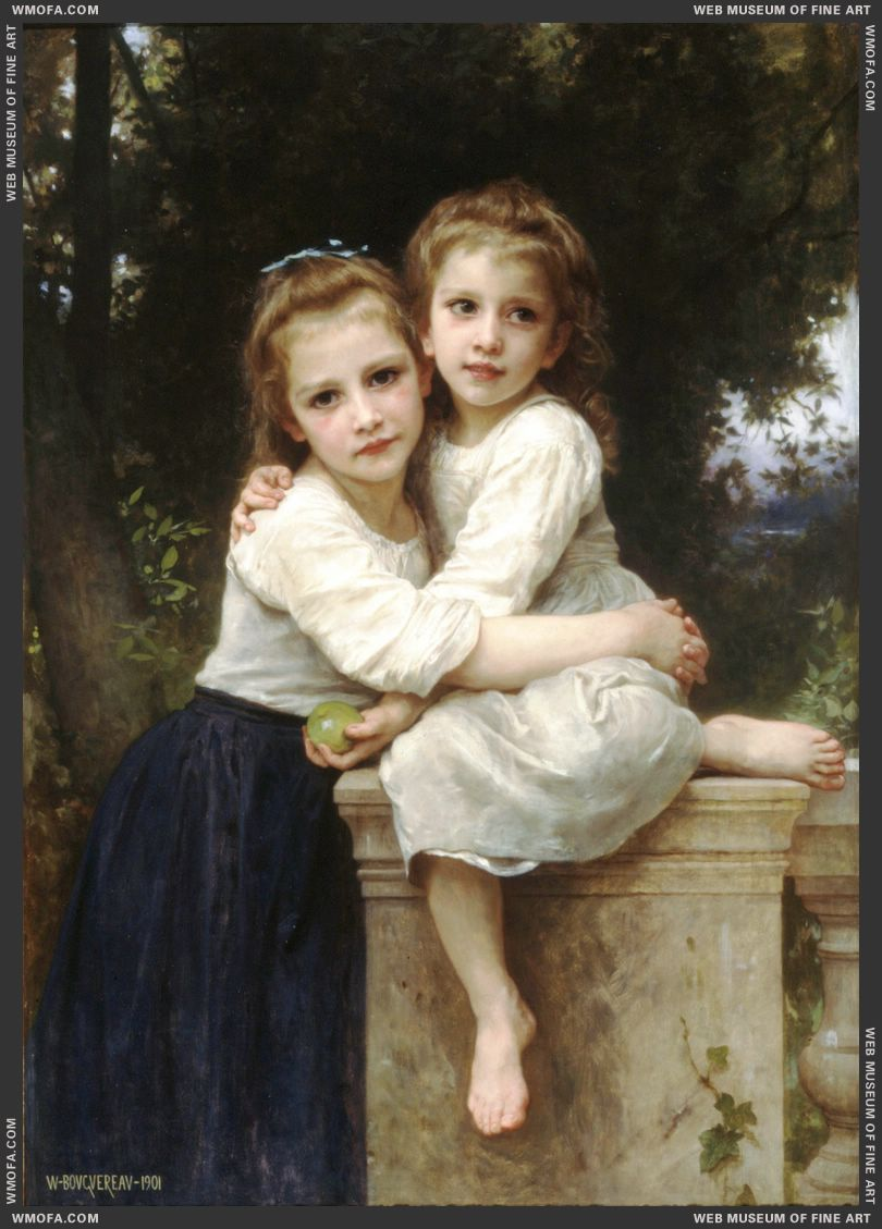 Deux Soeurs - Two Sisters 1901 by Bouguereau, William