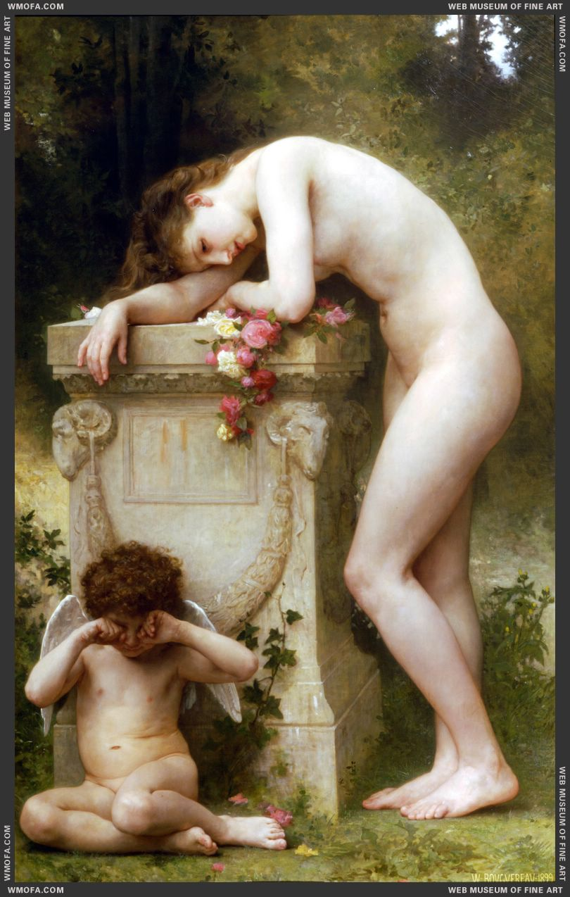 Douleur damour - Elegy 1899 by Bouguereau, William