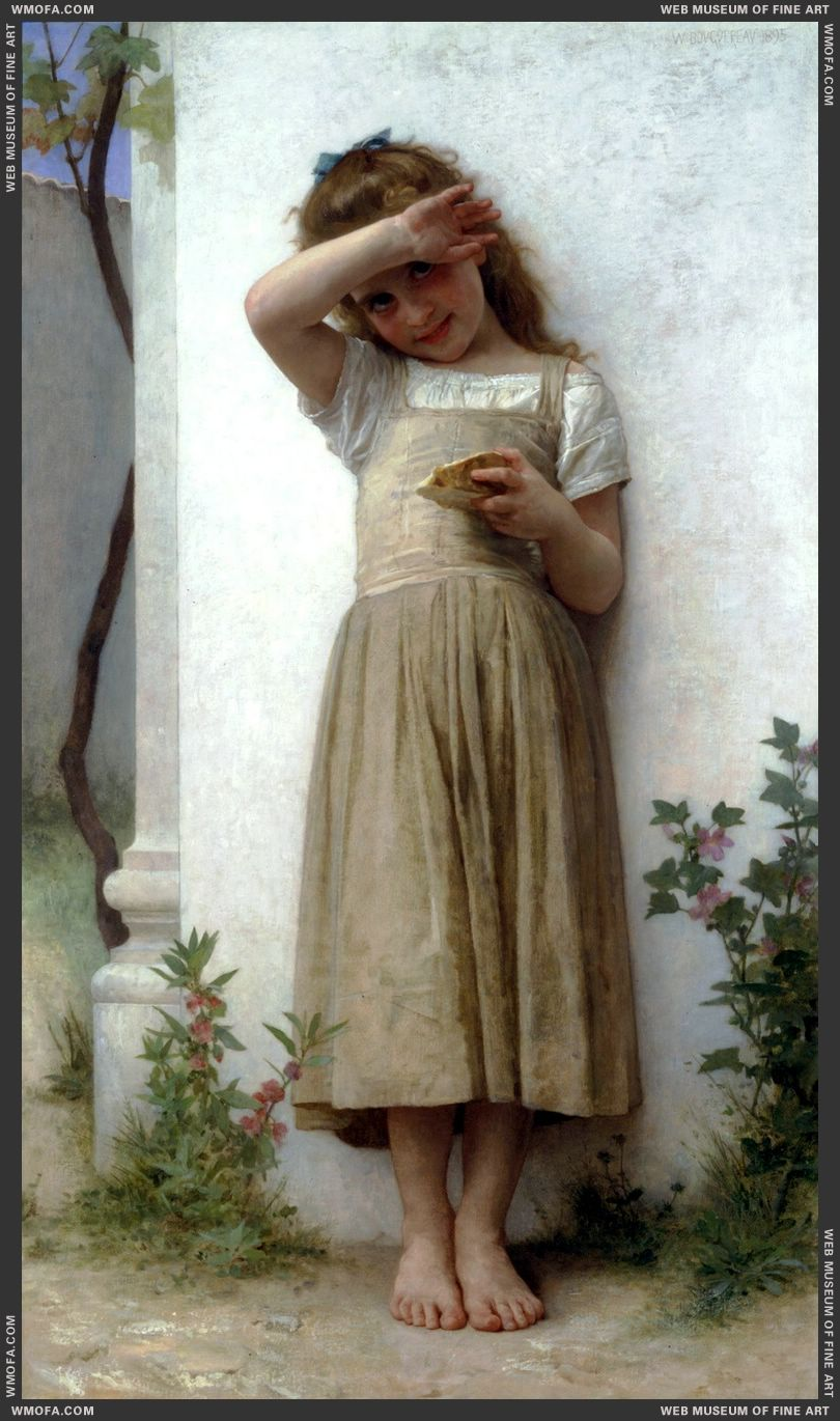 En Penitence - In Penitence 1895 by Bouguereau, William
