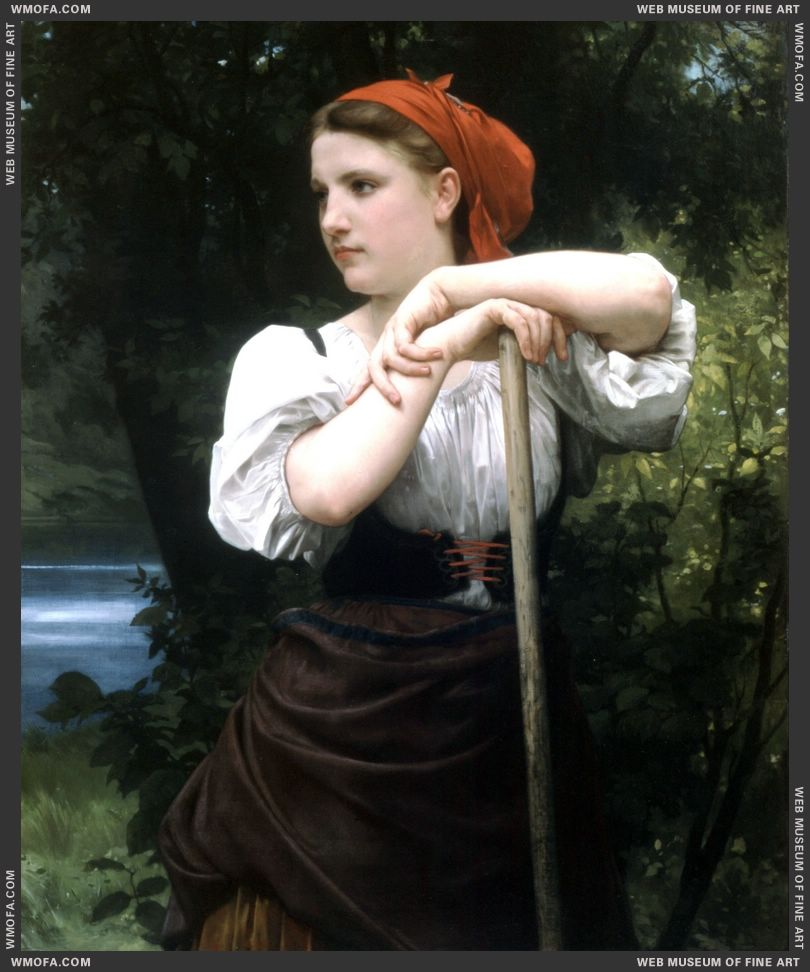 Faneuse - The Haymaker 1869 by Bouguereau, William