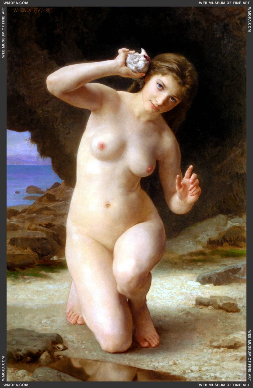 Femme au Coquillage - Woman with Seashell 1885 by Bouguereau, William