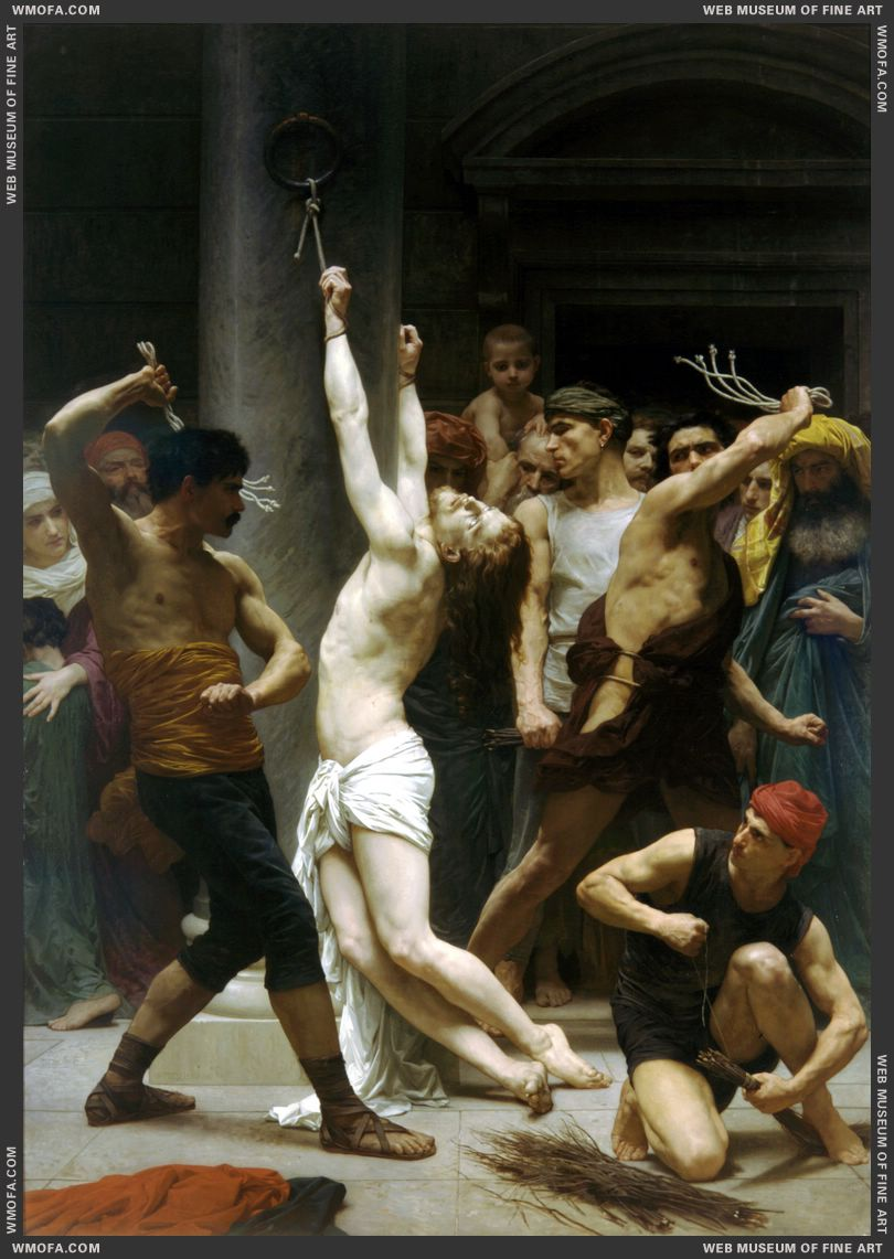 Flagellation de Notre Seigneur Jesus Christ - The Flagellation of Our Lord Jesus Christ 1880 by Bouguereau, William