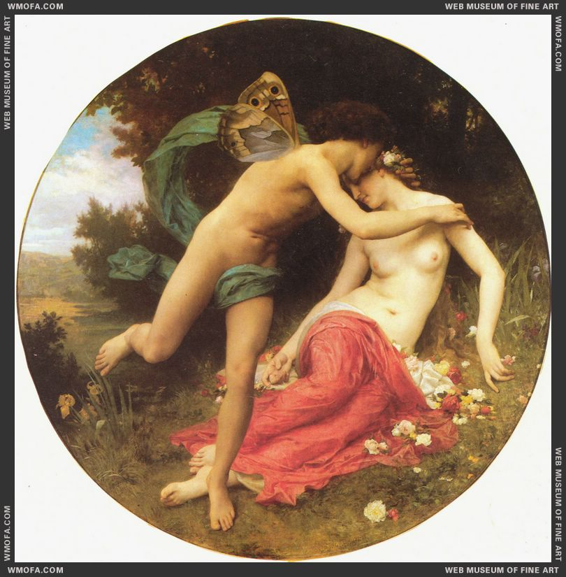 Flore et Zephyre - Flora and Zephyr 1875 by Bouguereau, William