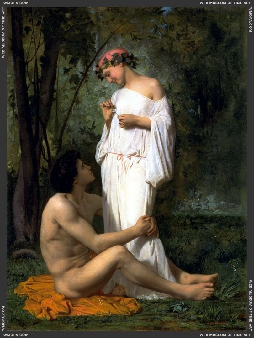 Idylle 1851 by Bouguereau, William