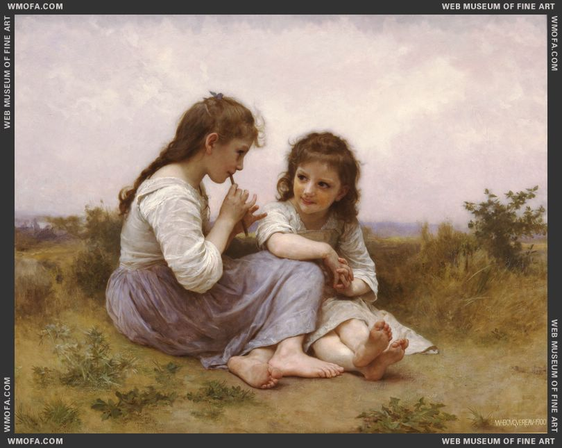 Idylle Enfantine - A Childhood Idyll 1900 by Bouguereau, William