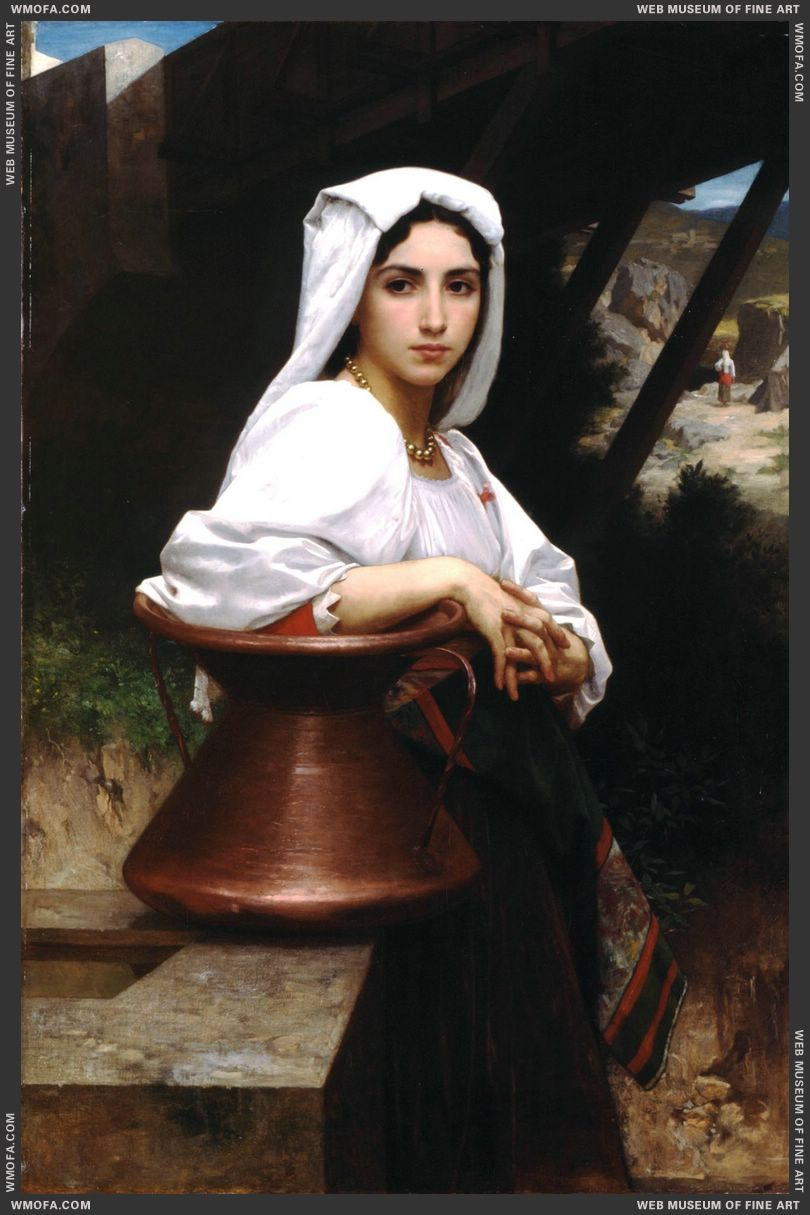 Italian Girl Drawing Water 1871 by Bouguereau, William