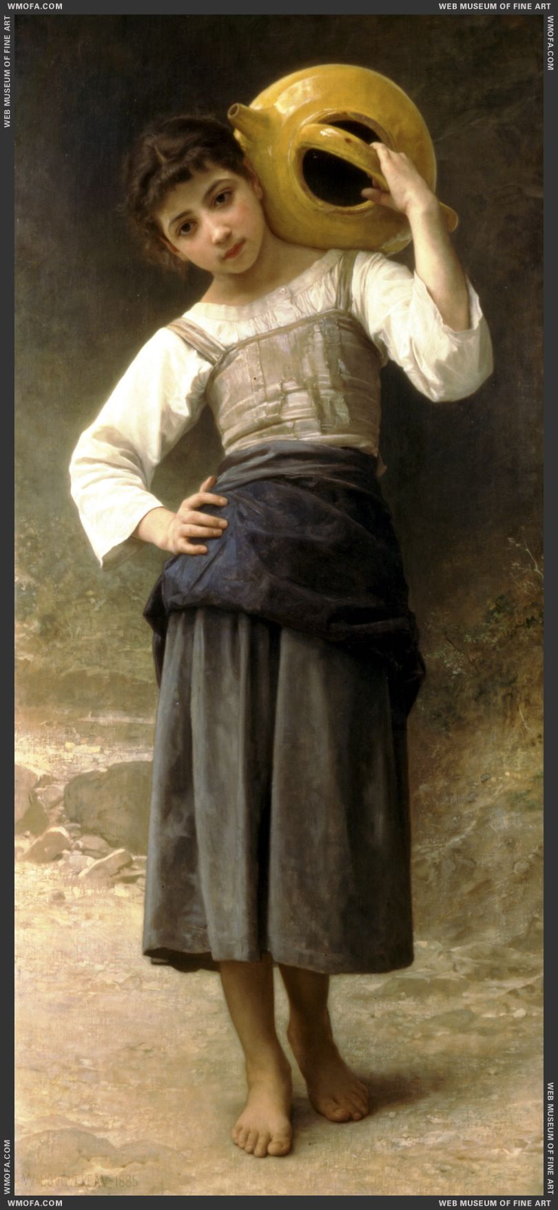 Jeune Fille Allant a la Fontaine - Young Girl Going to the Fountain 1885 by Bouguereau, William
