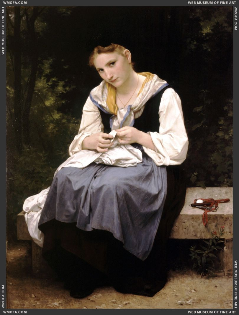 Jeune Ouvriere - Young Worker 1869 by Bouguereau, William