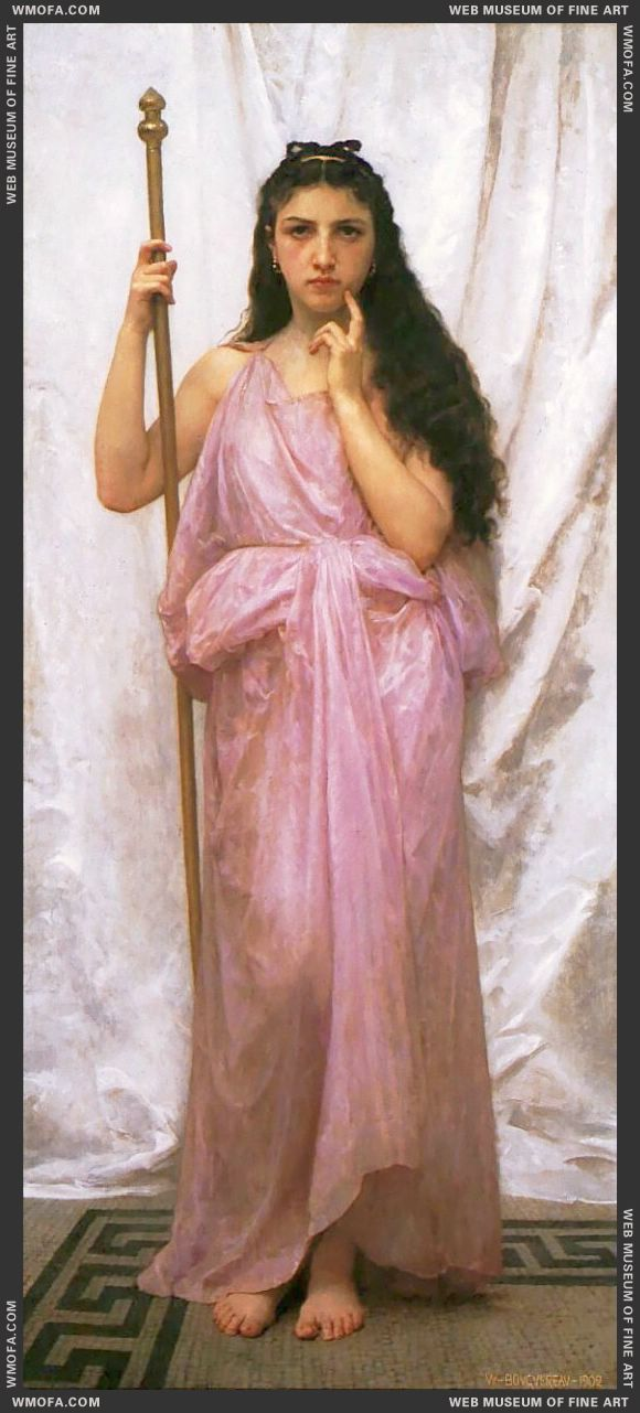 Jeune Pretresse - Young Priestess 1902 by Bouguereau, William