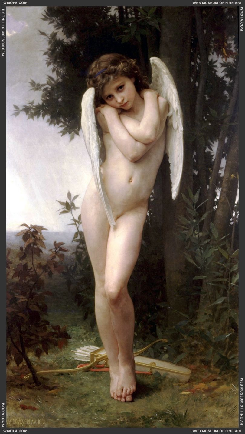 LAmour Mouille - Wet Cupid 1891 by Bouguereau, William