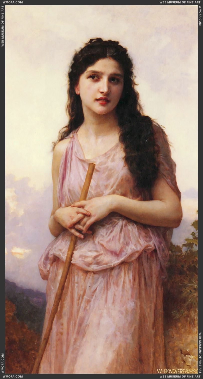 LAttente - Waiting 1902 by Bouguereau, William