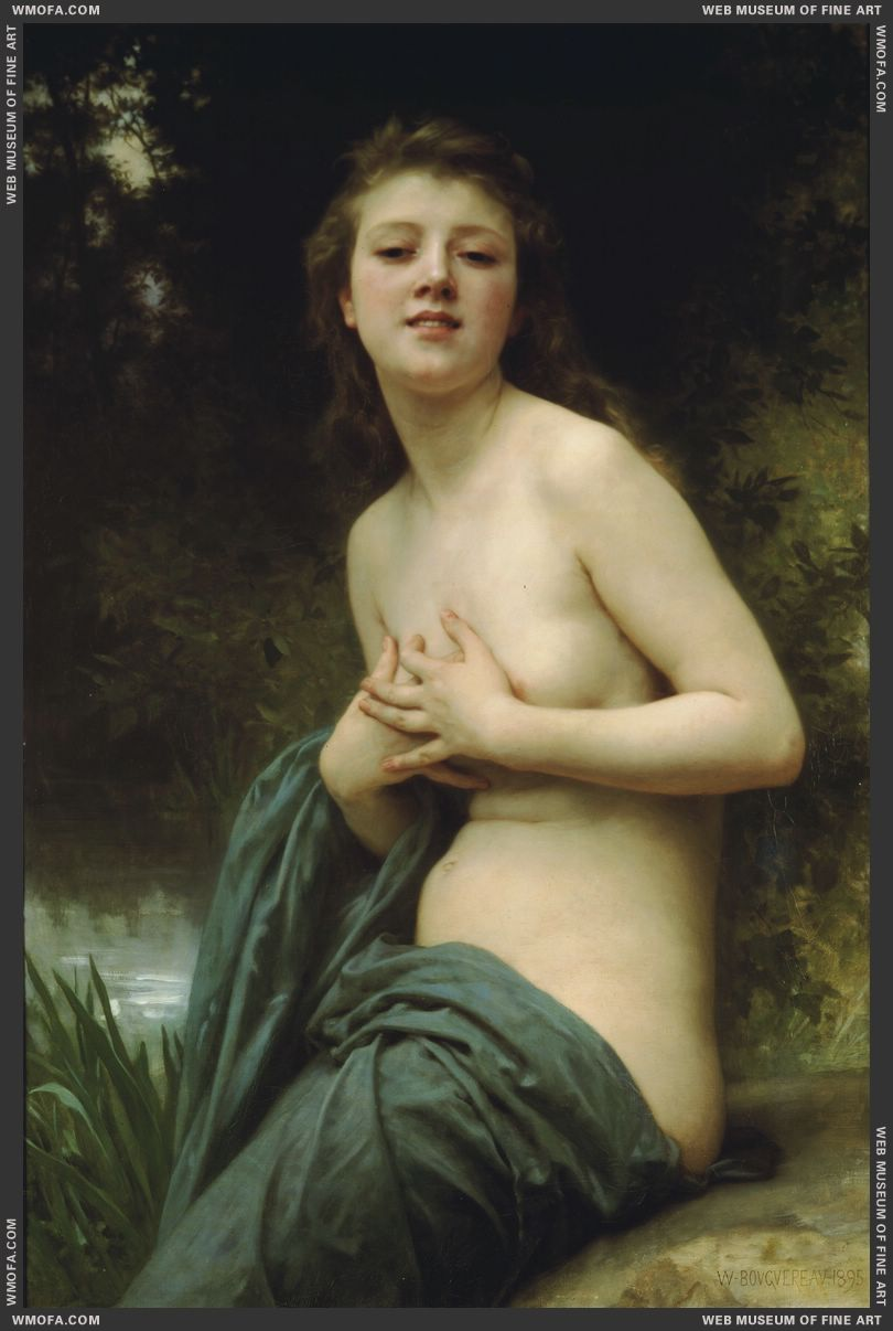 La Brise du Printemps - Spring Breeze 1895 by Bouguereau, William