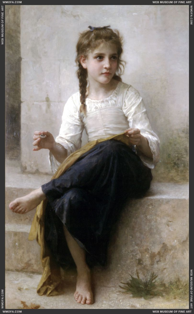 La Couturiere - Sewing 1898 by Bouguereau, William