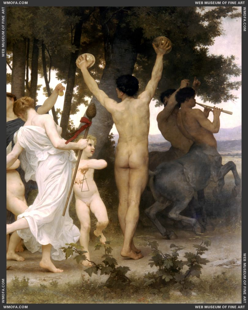 La Jeunesse de Bacchus - The Youth of Bacchus - detail right 1884 by Bouguereau, William