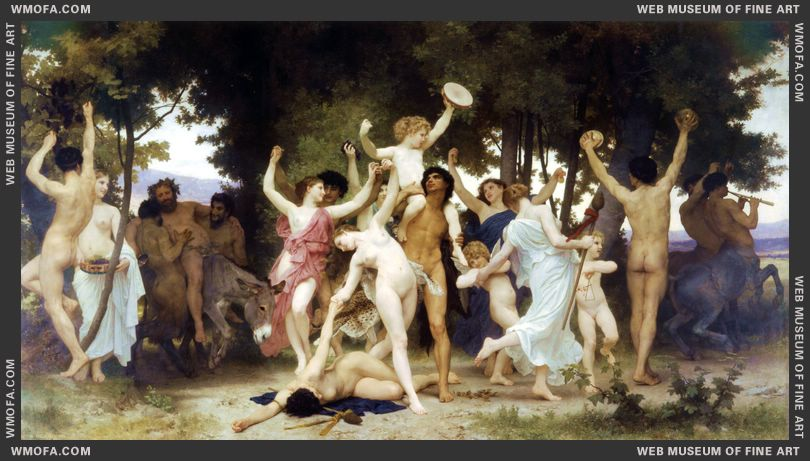 La Jeunesse de Bacchus - The Youth of Bacchus 1884 by Bouguereau, William
