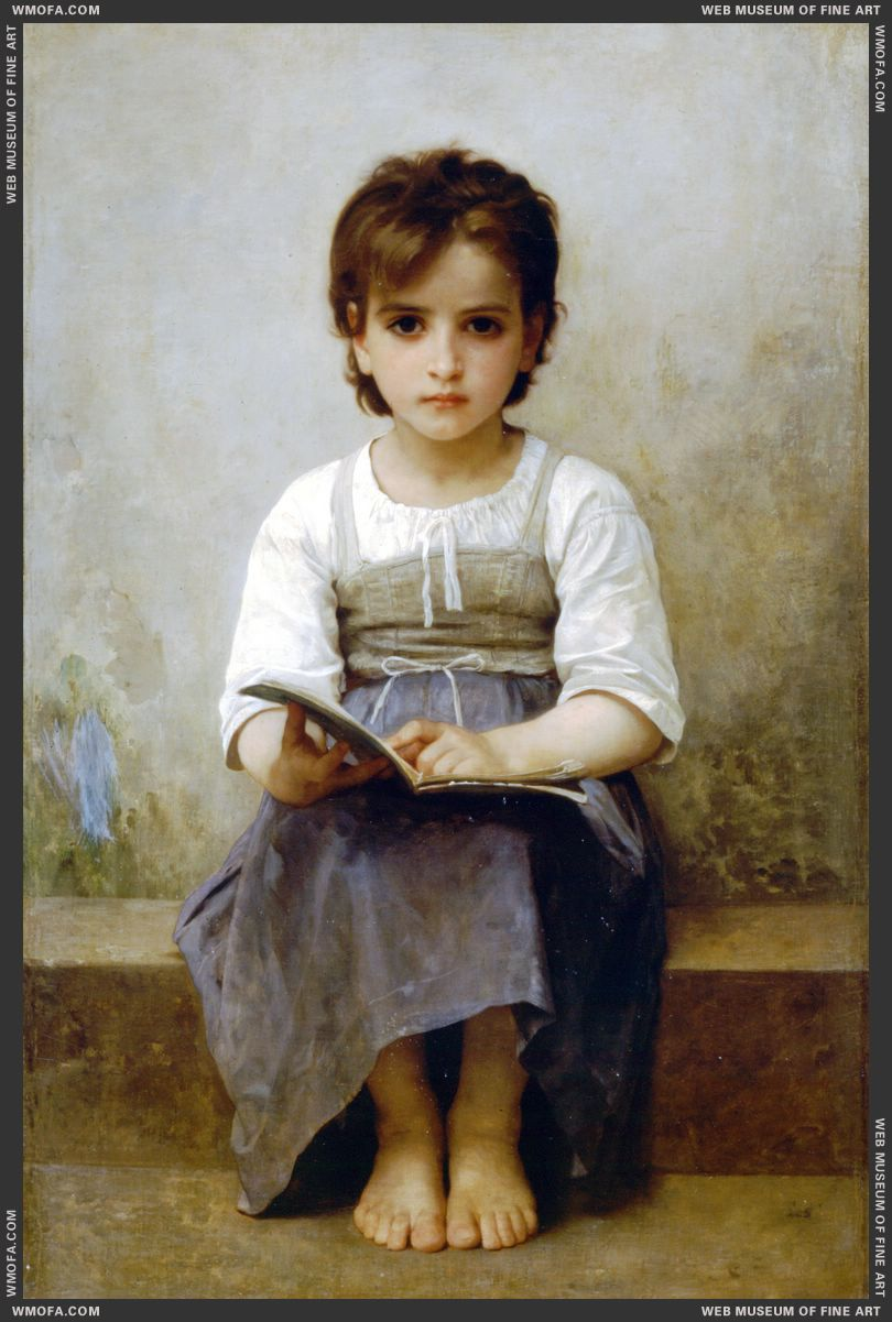 La Lecon Difficile - The Difficult Lesson 1884 by Bouguereau, William