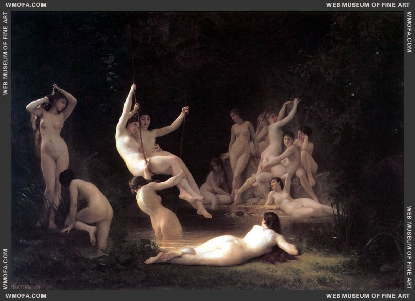 La Nymphee - The Nymphaeum 1878 by Bouguereau, William