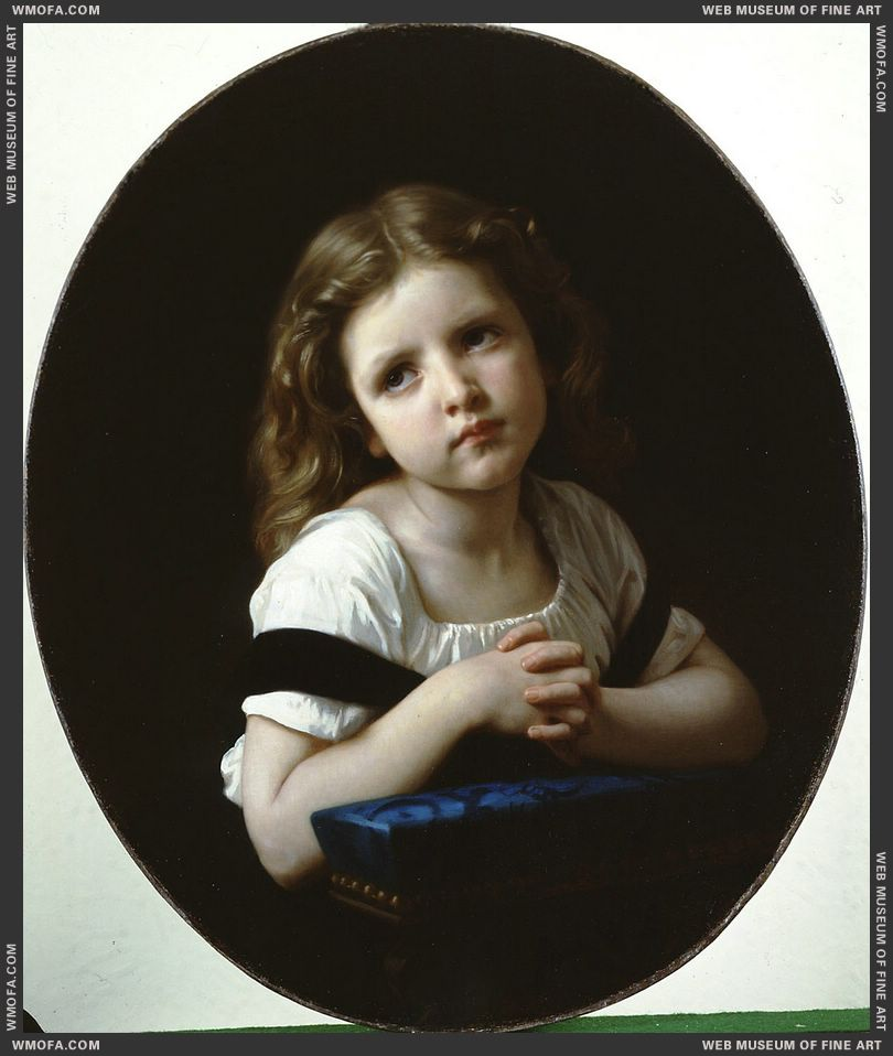 La Priere - The Prayer 1865 by Bouguereau, William