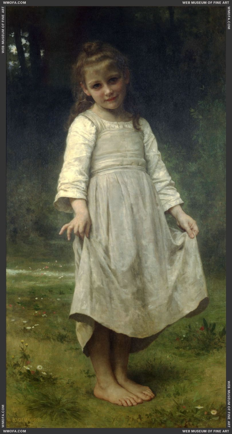 La Reverence - The Curtsey 1898 by Bouguereau, William