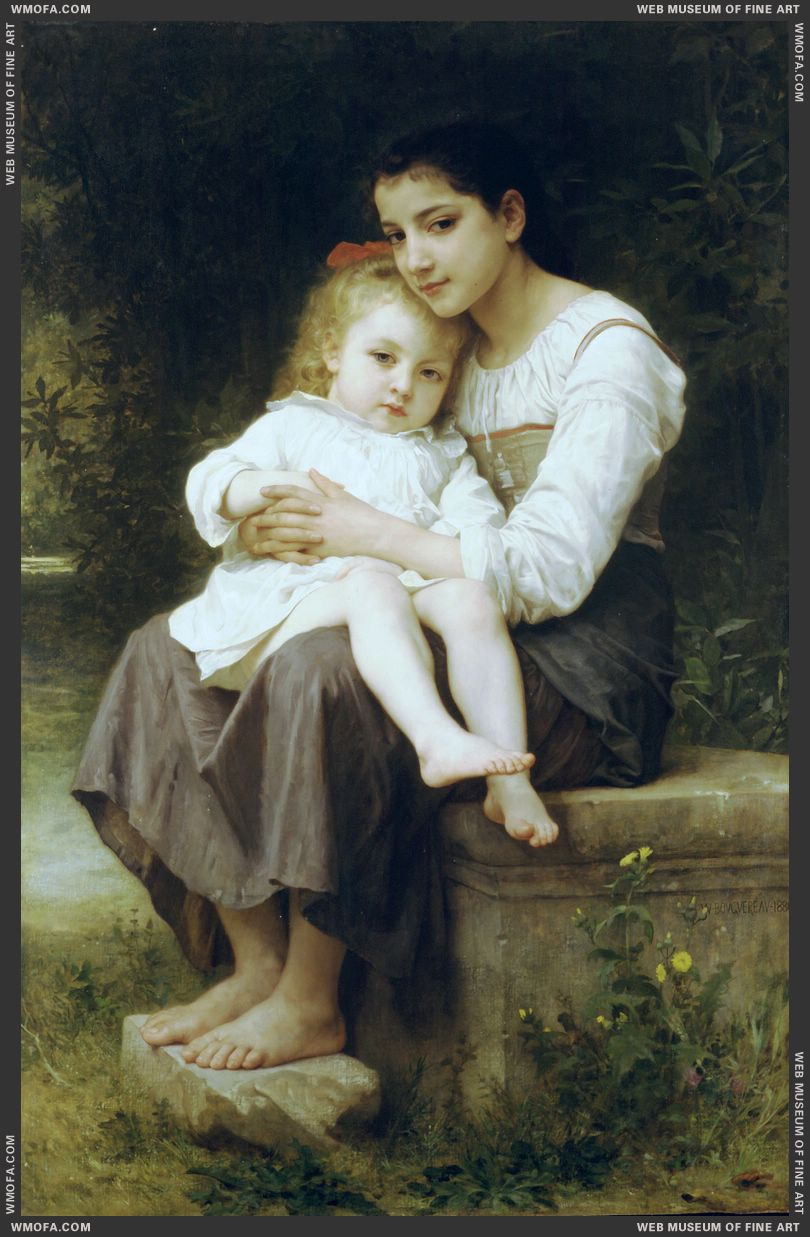 La Soeur Ainee - Big Sister 1886 by Bouguereau, William