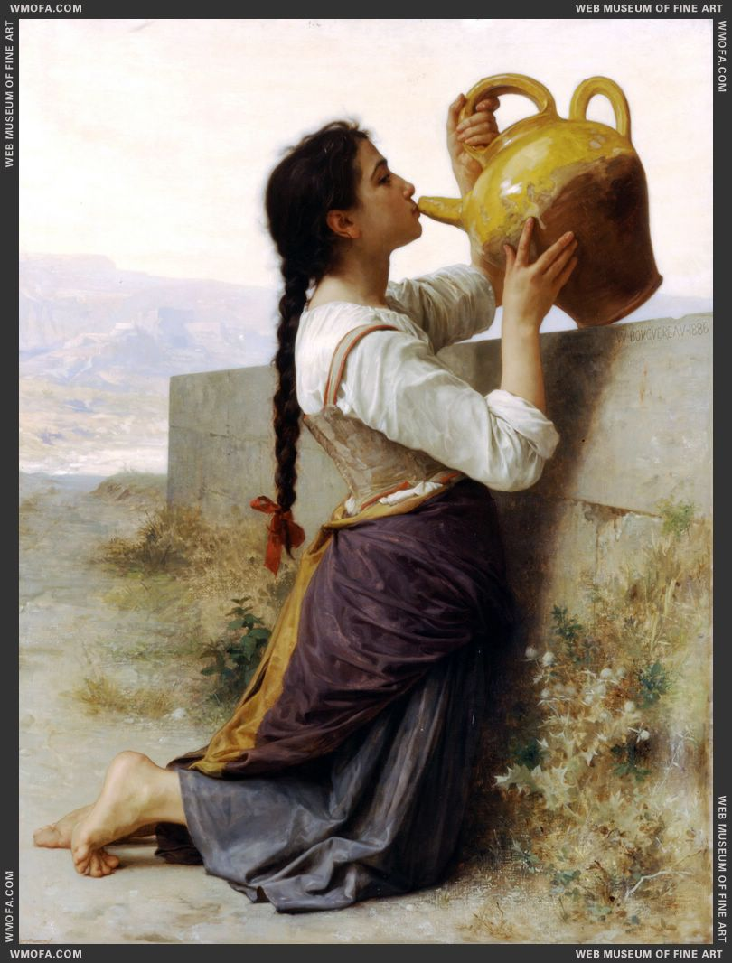 La Soif - Thirst 1886 by Bouguereau, William