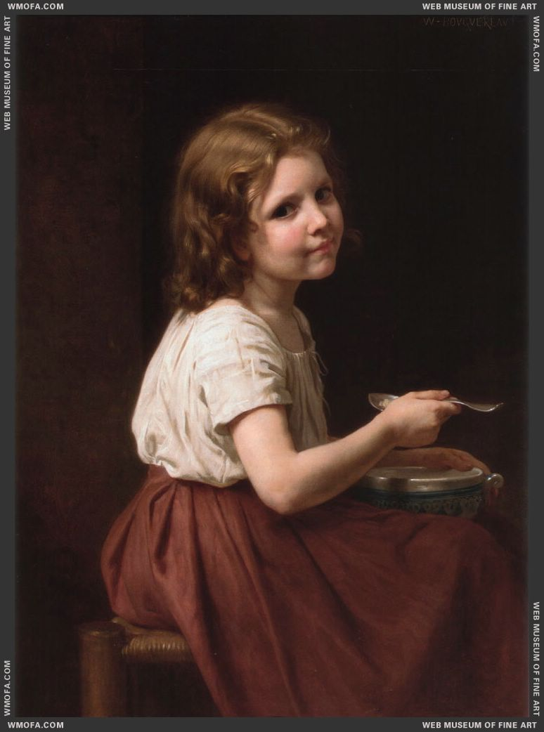 La Soupe - Soup 1865 by Bouguereau, William